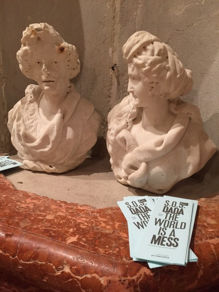 "June 6th, 2015. Salon Suisse at the Pro Helvetia ""S.O.S. Dada"" in Venice. Styrofoam or marble? Pleasure or pain?"