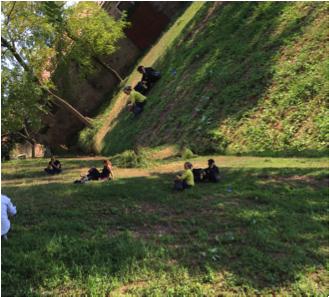 11 septembre 2015. Entre « Toteninsel » (L'île des morts) et oasis, dialogue avec son ombre.